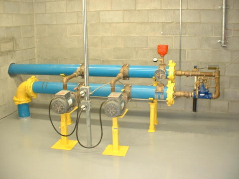 Inside Booster Pump Station